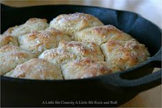 Easy cast iron skillet biscuits. Been doing this for years now, every time we go camping Josh makes his sausage gravy and i make my biscuits for biscuits and gravy