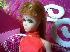 Glori in Her Red Halter Dress