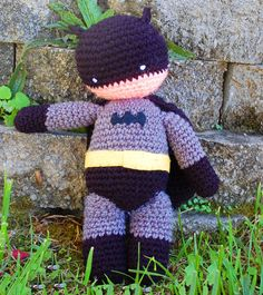 My Hero Superman and Batman PDF Crochet Toy Patterns INSTANT DOWNLOAD