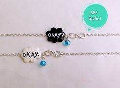 Hey, I found this really awesome Etsy listing at https://www.etsy.com/listing/192248220/okay-okay-charm-bracelet-the-fault-in