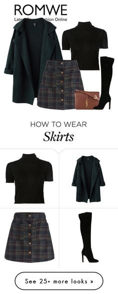 """""""Untitled #2401"""" by fashion-nova on Polyvore featuring Rosetta Getty, Yves Saint Laurent and Gianvito Rossi"""
