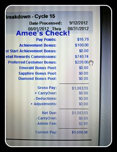 Amee's Journey With Plexus Slim!: I posted my 1st check I've received since signing up Aug. 3rd!! :)