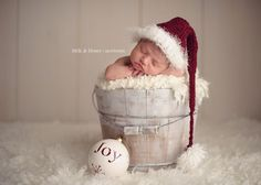 Christmas baby shoot - minus the hat, maybe a different one