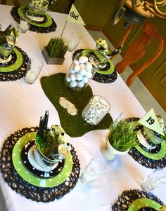 Corner of Plaid and Paisley: Father's Day Golf Table