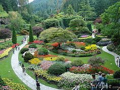 Photo about Victoria tourist attraction Buchart Gardens in British Columbia. Image of beautiful, spacious, trees - 1192083 Places To See, Places Ive Been, Buchart Gardens, Photo Online, Garden Paths, Dream Vacations, Flower Art, Stock Photos, Water