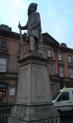 Queen's Own Cameron Highlanders, Egypt & Sudan Memorial, Station Square, Inverness. Erected in memory of the Cameron Highlanders lost in Egypt and Sudan 1882, 1884 and 1898.