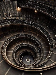 Spiral Staircase at the Vatican Museum. http://www.flickr.com/photos/shankii/7302670348