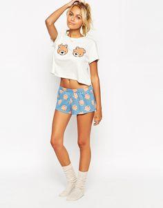 ASOS Teddy Bear Boobs Tee & Short Pyjama Set