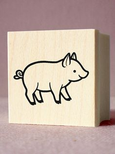 pig craft stamp