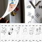 Colouring calendar for kids – 2014 // Calendario para colorear del 2014