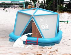Life Boxis an air-droppable, rapid-responseemergency shelterthat be quickly inflated to provide housing for four people.