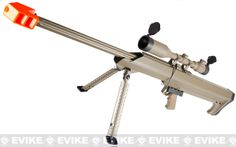 Barrett Licensed Bolt Action Airsoft Long Range Sniper Rifle (Package: Desert / Rifle & Bipod Only)