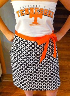 Turn your favorite college tee into the perfect #gameday dress! So cute! @Tennessee Athletics #vols