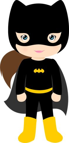 Characters of Batman Kids Version Clip Art.