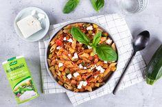 Rode linzen pasta met courgette #Avogelrecepten