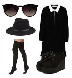 """""""Untitled #11"""" by tessa-effy-parker on Polyvore featuring Ray-Ban, Victoria, Victoria Beckham, Commando and rag & bone"""