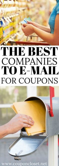 couponing Check out the best companies to e-mail for coupons. Learn how to get free coupons in the mail. Find the best companies to e-mail for FREE coupons by mail. You will love finding ou Extreme Couponing, How To Start Couponing, Couponing For Beginners, Couponing 101, Free Coupons By Mail, Free Stuff By Mail, Free Grocery Coupons, Coupons For Free Stuff, Free Groceries