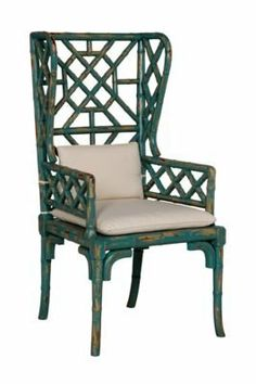 BAMBOO WING BACK CHAIR - Crossroads Cyan finish Set of 2 by Timeless Classics. $1617.75. BAMBOO WING BACK CHAIR - Crossroads Cyan finish Set of 2