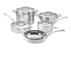 Cuisinart Tri-Ply Stainless-Steel 10-Piece Cookware, Set #williamssonoma $400
