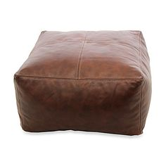 This stylish Leather Pouf is a smart way to create extra seating in your home without taking up too much space. It has four saddle-stitched sewed panels and a faux-suede bottom for an extra touch of luxury.