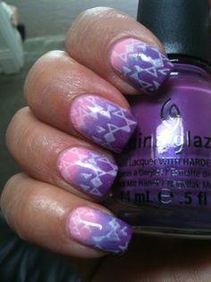Nail Art Gradient Stamping