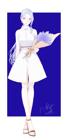 New hair white blue anime girls ideas Chibi Manga, Manga Anime, Character Concept, Character Art, Character Design, Anime Art Girl, Manga Girl, Anime Girls, Blue Anime