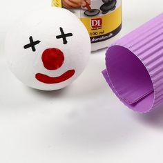 Ein Clown aus Wellpappe |DIY Anleitung