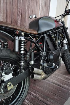 """his latest creation is the """"huf"""" honda cb350 cafe racer and it's"""