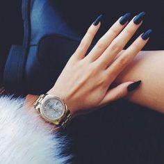 autumn stiletto nails #deepblue #love #obsessed