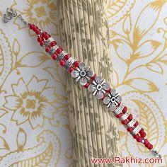 Product Description: Metallic Silver Bracelet For Brother Rakhi Online Shopping, Buy Rakhi Online, Happy Raksha Bandhan Wishes, Silver Rakhi, Send Rakhi To India, Handmade Rakhi Designs, Rakhi For Brother, Rakhi Gifts, Online Gifts