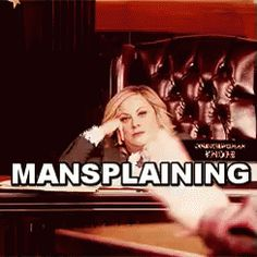 Get Me Outta Here GIF - Mansplaining AmyPoehler Cant - Discover & Share GIFs