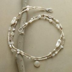 silver beads and pearls