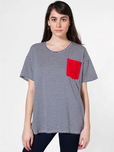 Unisex Le New Big Pocket Tee   Crew Necks   Women's T-Shirts   American Apparel