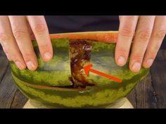 Loch in der Melone Watermelon Chicken, Watermelon Recipes, Special Recipes, Unique Recipes, Ethnic Recipes, Drunken Chicken, How To Cook Chicken, Beef Recipes, Chicken Recipes