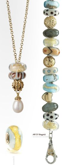 Fantasy pearl necklace in GOLD (Trollbeads Catalog 2011)