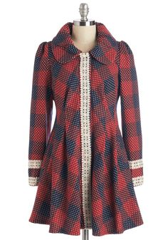 Winsome Wonder Coat. Looking for a classic-meets-feminine top layer? #multi #modcloth