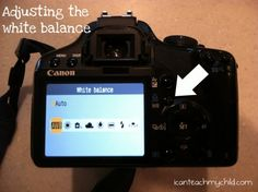 Adjusting the white balance on your pictures...
