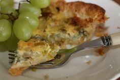 lipkowy domek: Quiche z porami , gruszką i serem pleśniowym . .