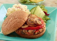 A veggie burger recipe that's sure to please even the meat-eaters! Make an extra batch and freeze for a convenient dinner later. Burger Recipes, Vegetarian Recipes, Grilling Recipes, Veggie Recipes, Veggie Dinners, Vegetarian Sandwiches, Tuna Recipes, Pescatarian Recipes, Onion Recipes