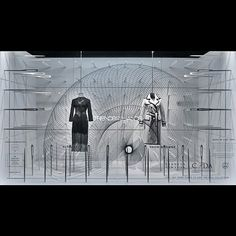 """BARNEYS,New York, (Thom&Browne),  """"The thread through the eye of the needle"""", pinned by Ton van der Veer"""