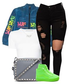 A fashion look from January 2017 featuring Rosetta Getty tops, Vans sneakers and Valentino shoulder bags. Browse and shop related looks. Date Outfit Casual, Date Outfits, Girl Outfits, High Fashion Outfits, Fall Looks, Fall Winter Outfits, Get Dressed, I Dress, Rosetta Getty