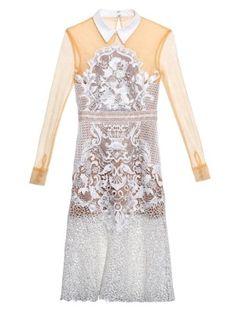 finest selection a67e2 84c03 Floral lace-mix shirtdress   Self-portrait   MATCHESFASHION.COM