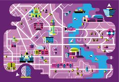 The fabulous folk at Always With Honor - map of Belfast, done for MTV European Music Awards