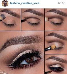Profi Make-Up Tutorial! - Makeup Tips , Profi Make-Up Tutorial! Profi Make-Up Tutorial! Eye Makeup Steps, Smokey Eye Makeup, Smoky Eye, Maquillage Yeux Cut Crease, Make Up Designs, Makeup Tutorial For Beginners, Mac Makeup, Makeup Brushes, Makeup Eyeshadow