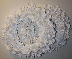 Printer Paper Flower Wreaths Paper + Glue Gun = this awesome wreath