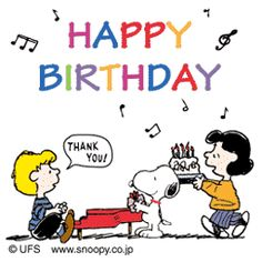 Snoopy, Lucy and Schroeder (Happy Birthday)
