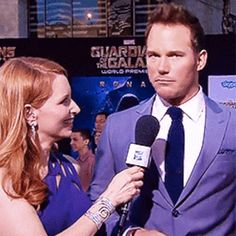 He clearly takes himself super seriously. Chris Pratt