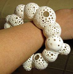 Radiolarian bracelet 2 - 3 by Daniel Imposible, via Flickr - Kato Polymer Clay