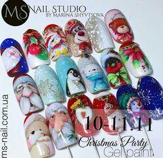 Winter Nail Designs, Nail Art Designs, 3d Acrylic Nails, Christmas Nail Art, Nailart, Trendy Nails, Winter Nails, Pedicure, Hair And Nails