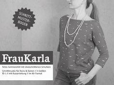 Oberteile & Jacken - FrauKARLA - Sommershirt mit 3/4-Ärmel - ein Designerstück von schnittreif bei DaWanda